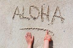 ALOHA vacanza della spiaggia Fotografia Stock Libera da Diritti