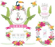 Aloha Wedding Floral Collections Stock Illustratie
