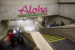 Aloha welcome to hawaii Stock Photos