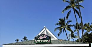 Welcome to Kona Sign Stock Images
