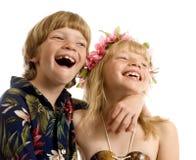Aloha Zwillinge! Lizenzfreies Stockfoto