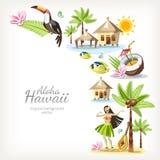 Alohaachtergrond van Hawaï royalty-vrije illustratie