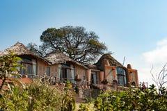 Alojamento da cratera de Ngorongoro, Tanzânia África Alojamento famoso na cratera de Ngorongoro imagens de stock royalty free