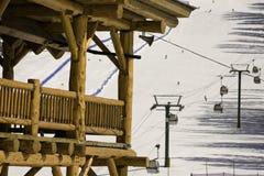 Alojamento da estância de esqui Fotos de Stock