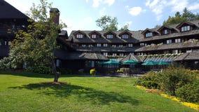 Alojamento da família de Trapp em Stowe, Vermont Alojamento austríaco do estilo imagens de stock