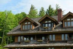 Alojamento da família de Trapp, Stowe, Vermont, EUA fotos de stock