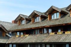 Alojamento da família de Trapp, Stowe, Vermont, EUA imagens de stock