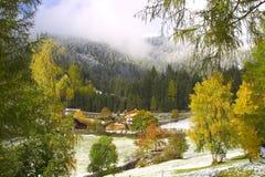 Alojamento da montanha Foto de Stock Royalty Free