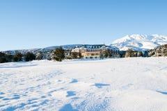 Alojamento da montanha. imagem de stock