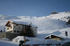 Alojamento do esqui, St. Moritz imagem de stock