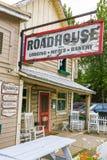 Alojamento e padaria do Roadhouse de Alaska Talkeetna Foto de Stock