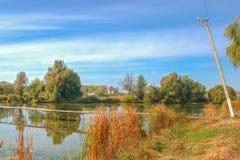 Alojamento no lago Foto de Stock Royalty Free