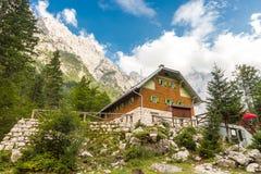 Alojamento no vale de Vrata, Eslovênia de Aljaz Foto de Stock Royalty Free