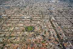 Alojamento residencial denso em Los Angeles sul fotografia de stock royalty free