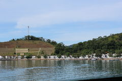 Alojamiento militar en DOS Reis, el Brasil de Angra Imágenes de archivo libres de regalías