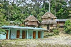 Alojamiento remoto de la selva del Amazonas Fotografía de archivo libre de regalías