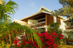 Alojamientos de la costa en el Caribe imagen de archivo