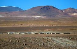 Alojamientos en medio de la nada en la provincia de Sur Lipez, departamento de Potosi de Bolivia foto de archivo