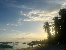 Alona Beach royaltyfri foto