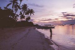 Alona Beach Sunrise Arkivfoto