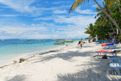 Alona Beach sur l'île de Panglao, Philippines Photographie stock