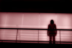 Alone. In pink Stock Photography