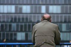 Alone. A senior man looking ahead Stock Photos