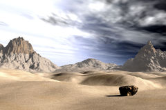 Alone. Desert landscape Royalty Free Stock Images