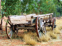 Alone. An old carriage left all alone at the australian outback royalty free stock photos