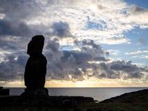 Alone in Ahu Tahai. A single Moai alone in the Ahu Tahai, Chile Royalty Free Stock Photography