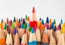 Alone. Arrangement art business color pencil colored pencils concept Royalty Free Stock Photos