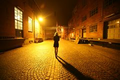 Alone, Architecture, Blond Royalty Free Stock Photos