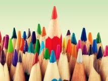 Alone. Arrangement art business color pencil colored pencils concept Stock Photography