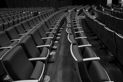Alone in auditoruim Royalty Free Stock Photography