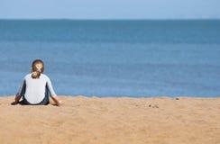 Alone on the beach Stock Photos