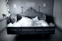 Alone in the bed Royalty Free Stock Photos