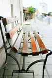 Alone bench. In the street Stock Photography