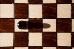 Alone black pawn Royalty Free Stock Image