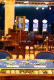 Alone blackjack table Royalty Free Stock Images
