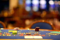 Alone blackjack table Stock Photo