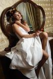 Alone bride stock photo