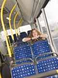 Alone on the bus Royalty Free Stock Photos