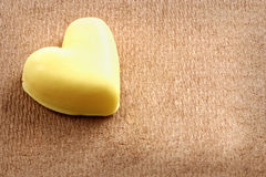 Alone chocolate heart Royalty Free Stock Photo