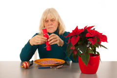 Alone with Christmas Stock Images