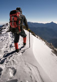 Alone climber Royalty Free Stock Photos
