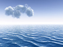 Alone cloud Royalty Free Stock Image