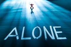 Alone concept Stock Images