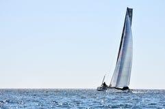 Alone crew catamaran Royalty Free Stock Photography