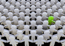 Alone in the crowd Stock Photos