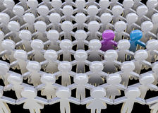 Alone in the crowd Royalty Free Stock Photography